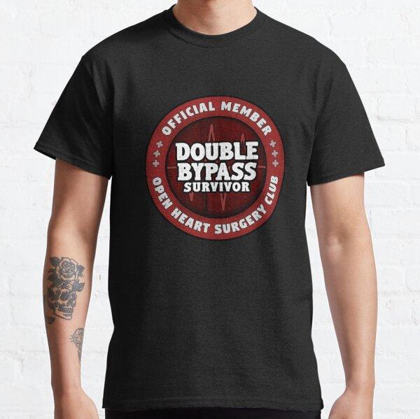 Regalo de recuperación de cirugía de corazón abierto de bypass de corazón doble Camiseta clásica