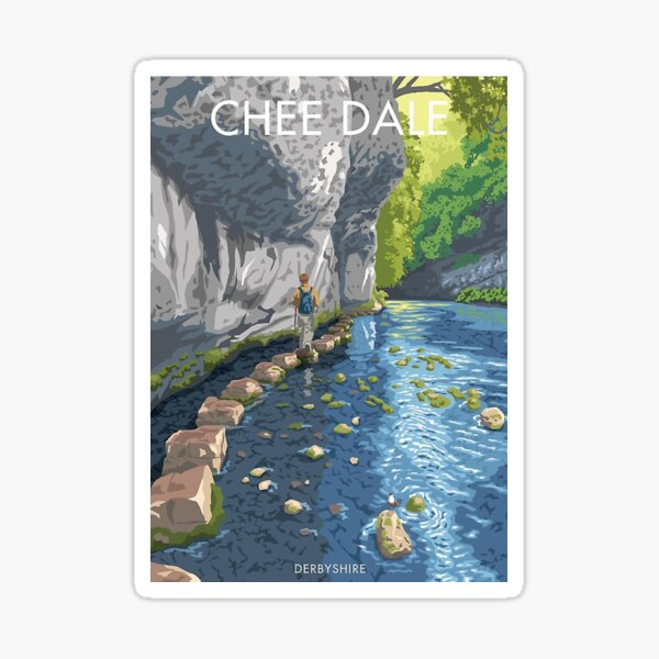 Chee Dale Derbyshire      Sticker
