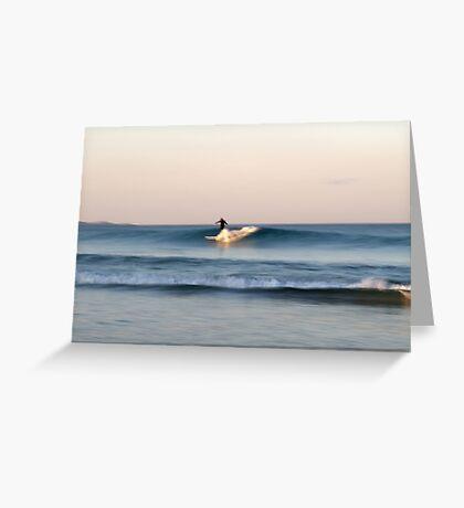 Lone Surfer at Dusk Greeting Card