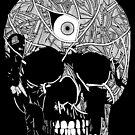 One Eyed Skull | Graveyard | Black and White by TymoSulek