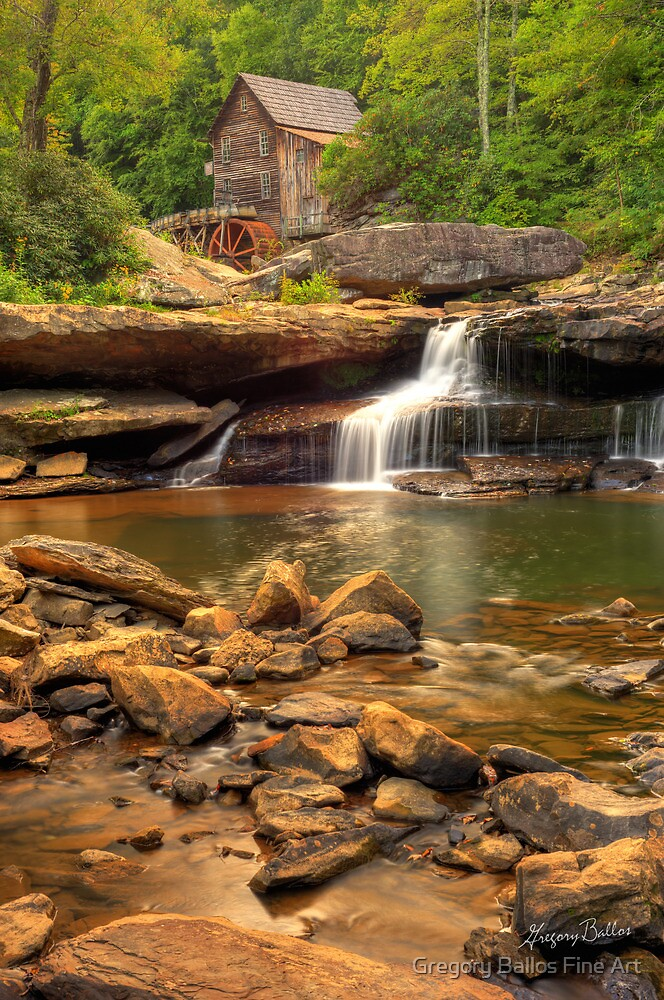 Glade Creek Grist Mill  by Gregory Ballos