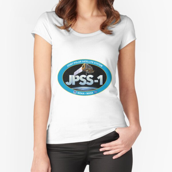JPSS-1 Logo Fitted Scoop T-Shirt