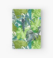 Tropical  Leaves Hardcover Journal