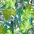 Tropical  Leaves by LIMEZINNIASDES