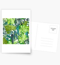 Tropical  Leaves Postcards