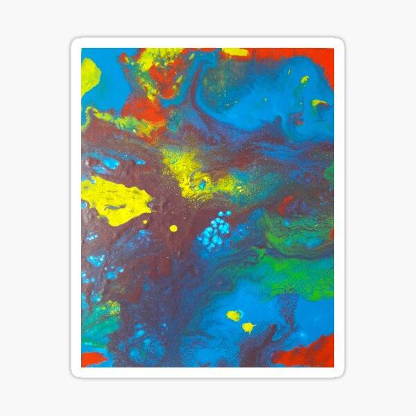 Manganèse - peinture à l'acrylique Sticker