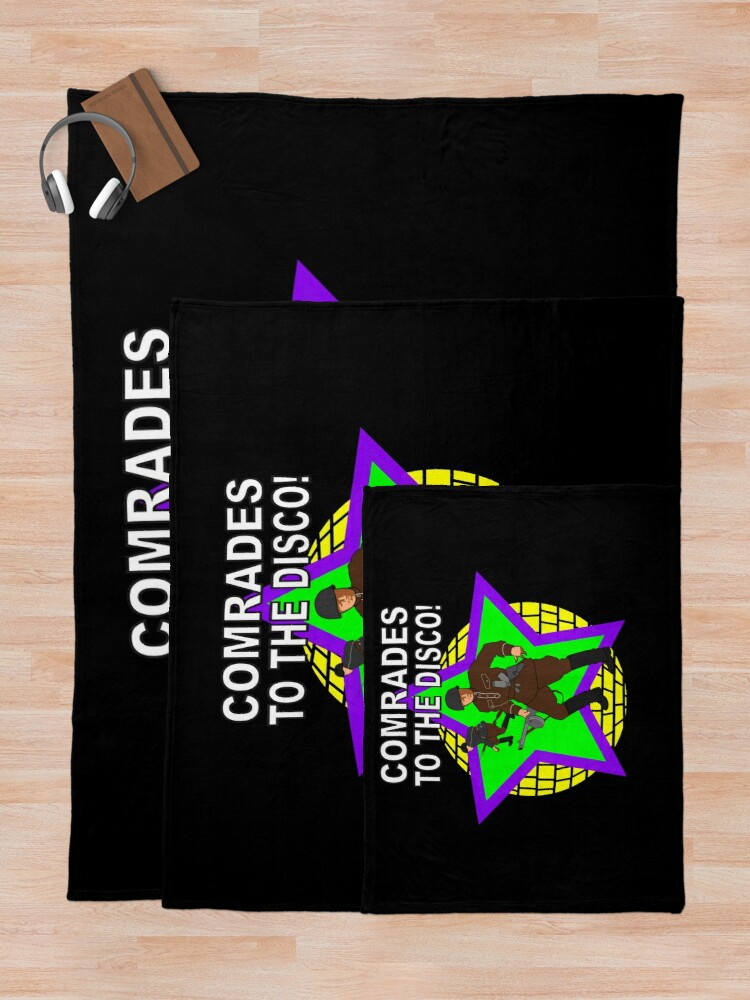 Alternate view of Comrades to the Disco Throw Blanket
