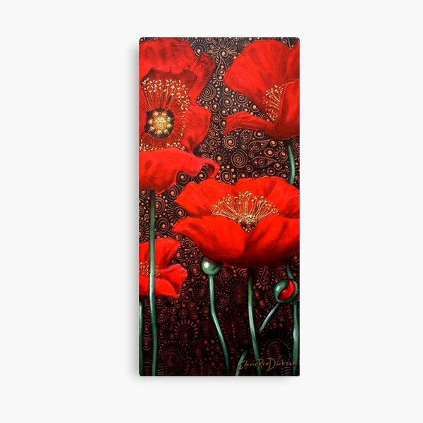 Dancing Poppies II Canvas Print
