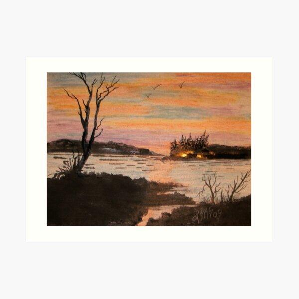 Campfire Island... Art Print