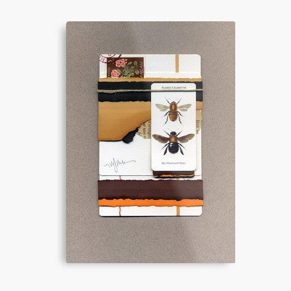Bumblebees and Appletrees Metal Print