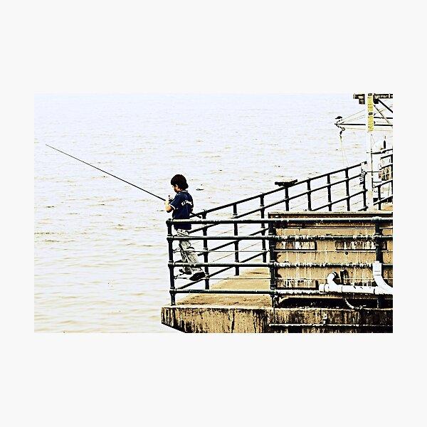 Young Fisherman Photographic Print