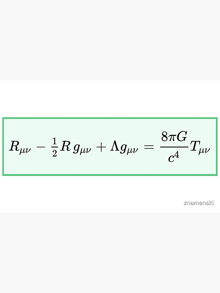 Einstein field equations EFE: General Theory of Relativity - Fundamental Interaction of Gravitation by znamenski