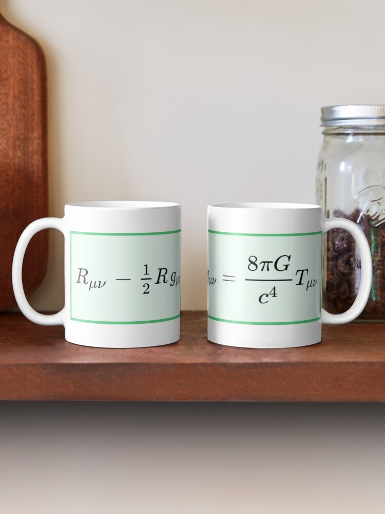 Einstein field equations EFE: General Theory of Relativity - Fundamental Interaction of Gravitation: Mug