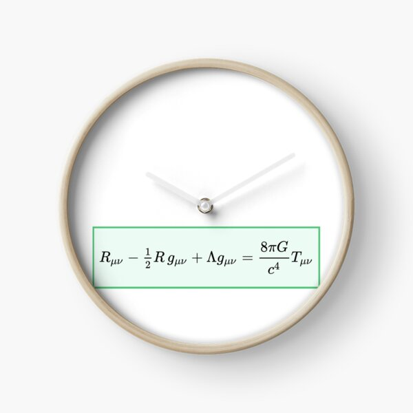 Einstein field equations EFE: General Theory of Relativity - Fundamental Interaction of Gravitation Clock