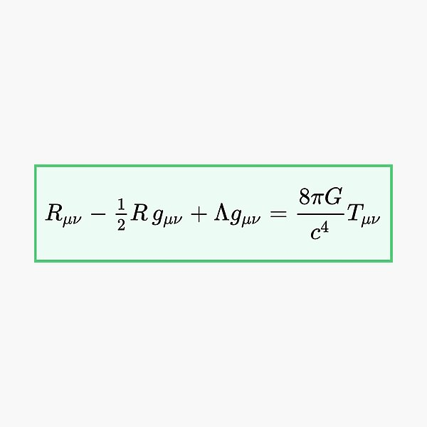Einstein field equations EFE: General Theory of Relativity - Fundamental Interaction of Gravitation Photographic Print