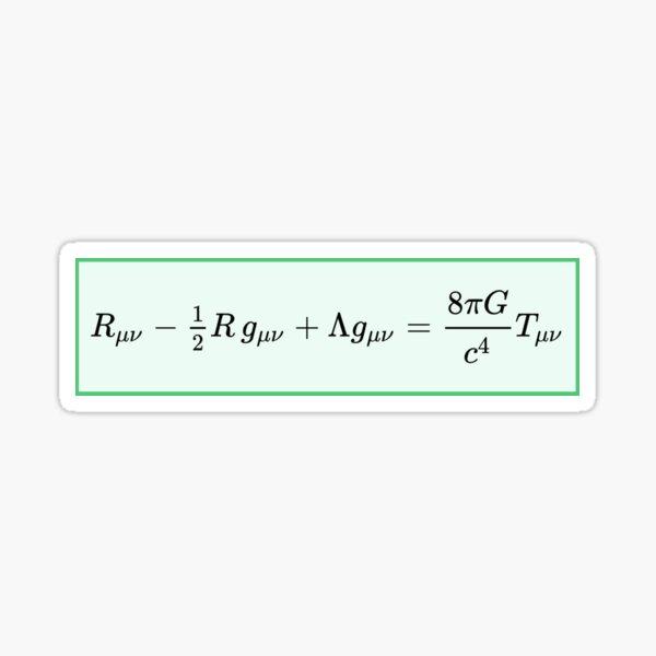 Einstein field equations EFE: General Theory of Relativity - Fundamental Interaction of Gravitation Sticker