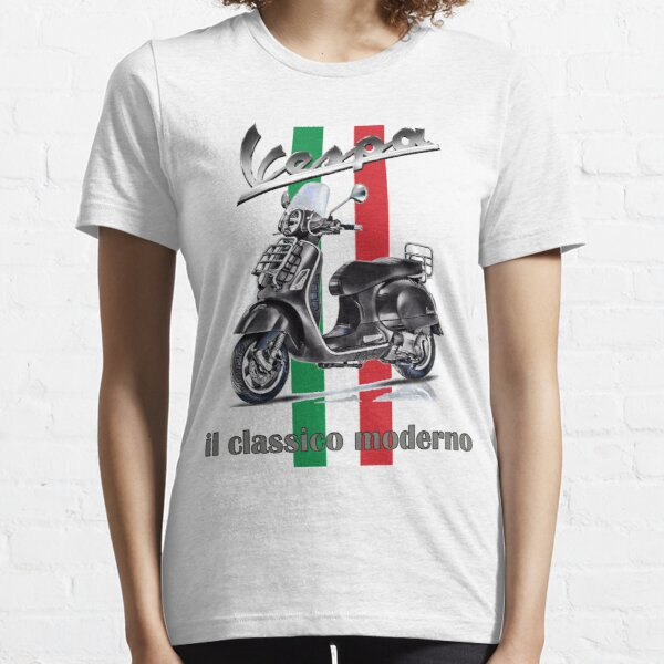 Vespa GTS Scooter il classico moderno Jack Alpha Mod Automatic Essential T-Shirt