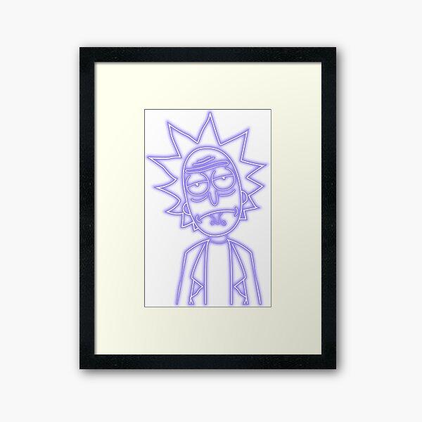 Rick NEON PURPLE Framed Art Print
