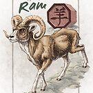 Chinese Zodiac - the Ram by Stephanie Smith