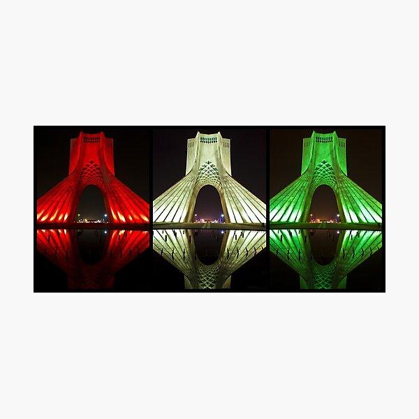 Azadi Tower (Triptych Reflection) -Tehran - Iran Photographic Print