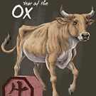 Year of the Ox (for dark shirts) by Stephanie Smith