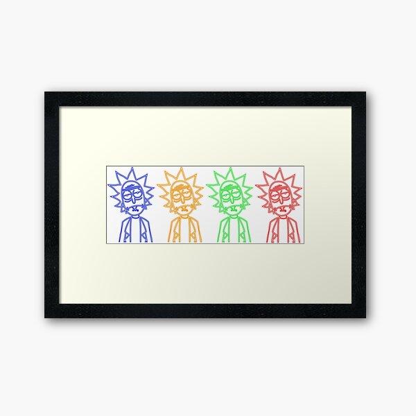 Rick NEON quadruplet Framed Art Print
