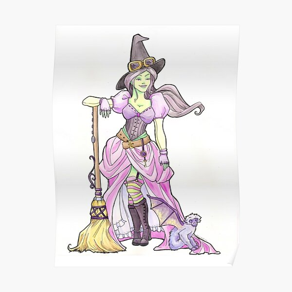 Steampunk Wicked Witch of the West Poster