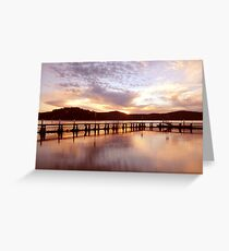 Water Sunrise Greeting Card