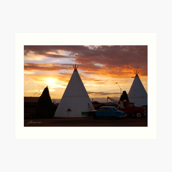 Route 66 Accomodations Art Print
