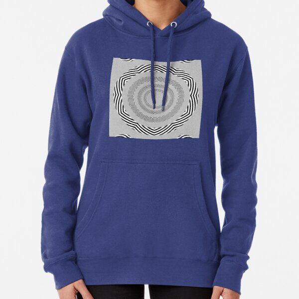 #Movement #Monochrome #Illusion, #Abstract drawing, spiral,helix,scroll,loop,volute,spire,helical,winding,corkscrew Pullover Hoodie