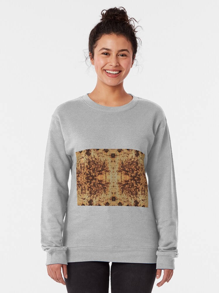Alternate view of #Dirty #rusty #ScratchedIron sheet bolts nuts #Scratched #Iron  Pullover Sweatshirt
