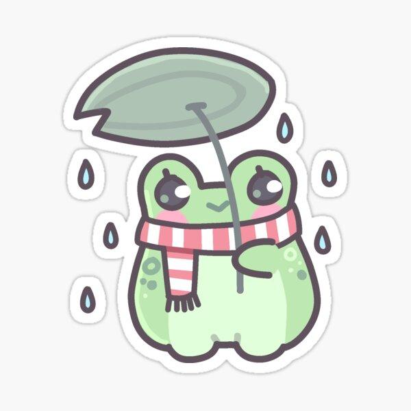 Frosch im Regen Sticker