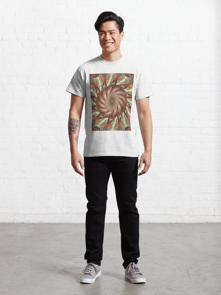 Alternate view of #Illusions gif, #abstract, #design, #pattern, art, illustration, twirl, hypnosis, twist, target, spiral Classic T-Shirt
