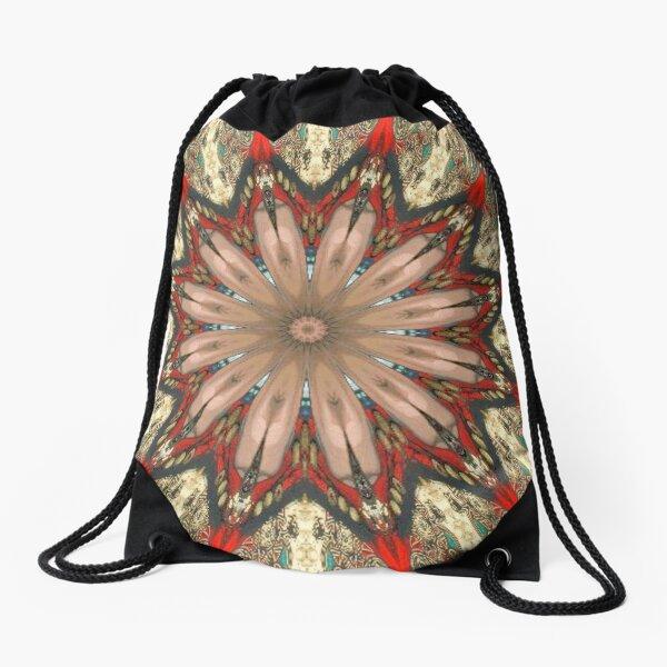 #Illusions gif, #abstract, #design, #pattern, art, illustration, twirl, hypnosis, twist, target, spiral Drawstring Bag