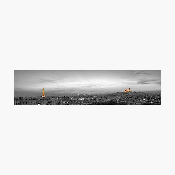 Panorama of Paris, Black and White Photographic Print