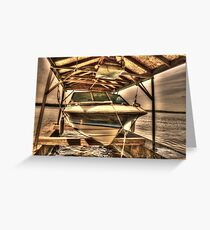 Boat out of water Greeting Card