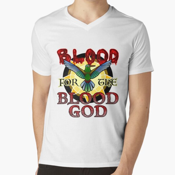 Blood for the Blood God V-Neck T-Shirt