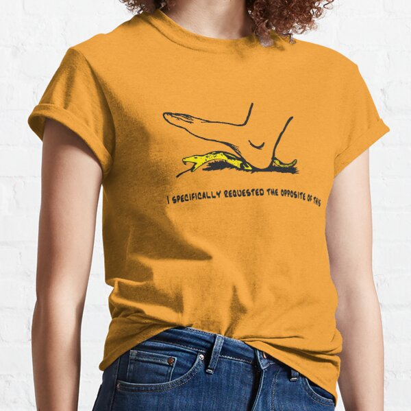 I specifically requested the opposite of this - Don't tread on me parody Gadsden flag with snek - yellow version HD HIGH QUALITY ONLINE STORE Classic T-Shirt