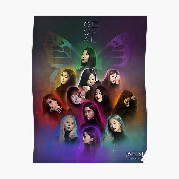 LOONA 이달의 소녀 Fanart - BUTTERFLY (Kpop) Poster