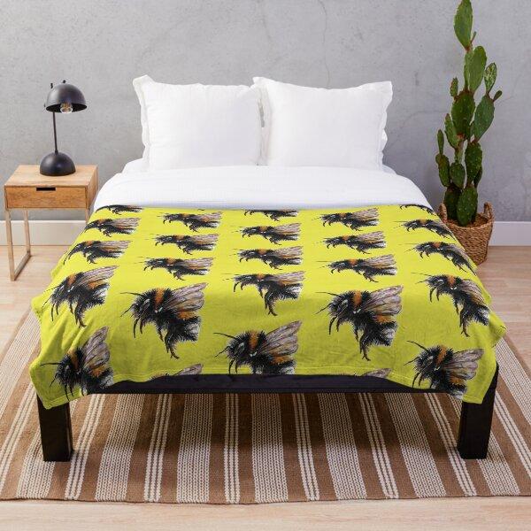 Tiny Bumblebee Throw Blanket