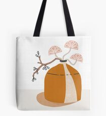 Orange pottery with plants Tote Bag