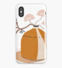 Orange pottery with plants iPhone Case