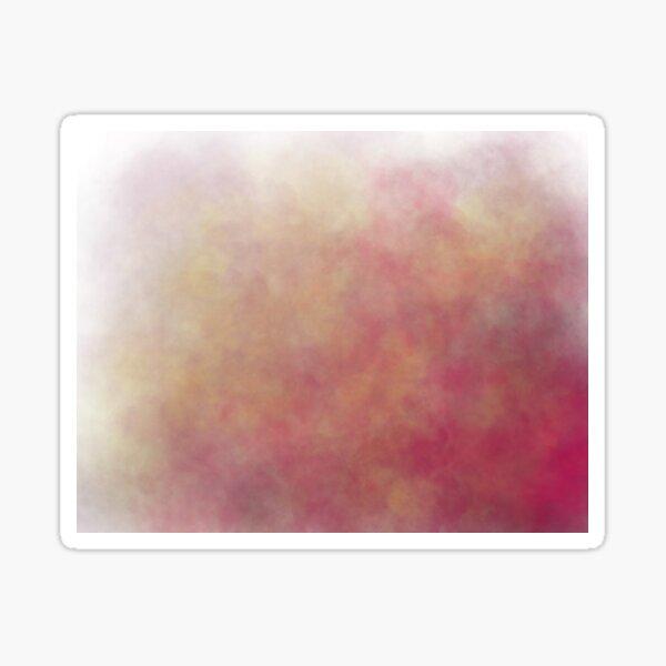 Pinker abstrakter Rauch Sticker