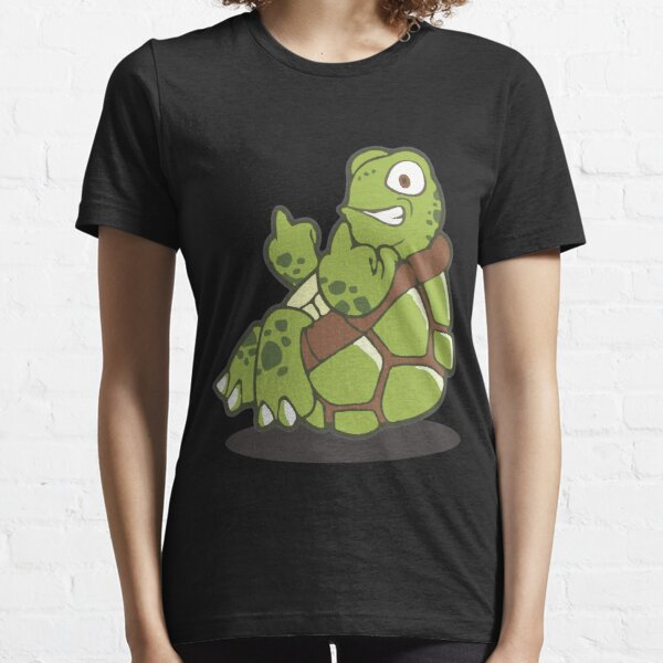 What the shell? Middle finger turtle. Essential T-Shirt