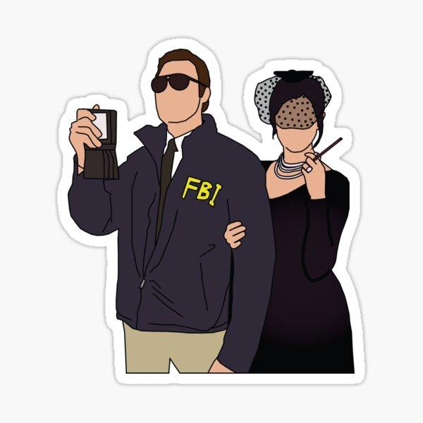 Burt Macklin & Janet Snakehole Sticker