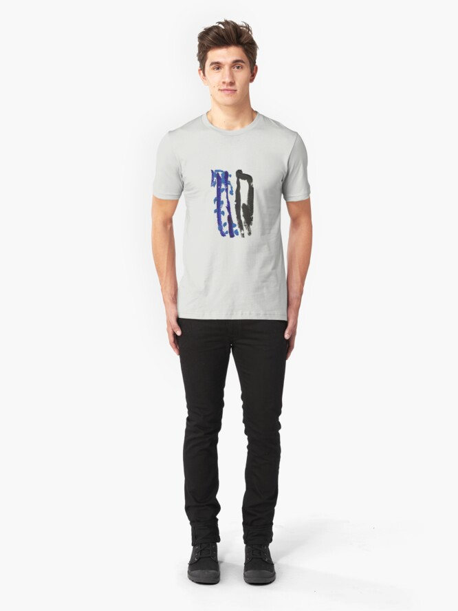 Alternate view of Black & Blue Slim Fit T-Shirt
