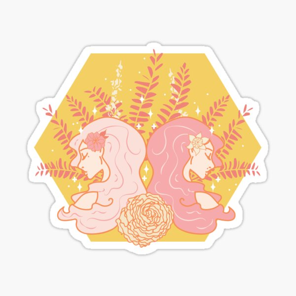 Gemini Twins - YELLOW Sticker