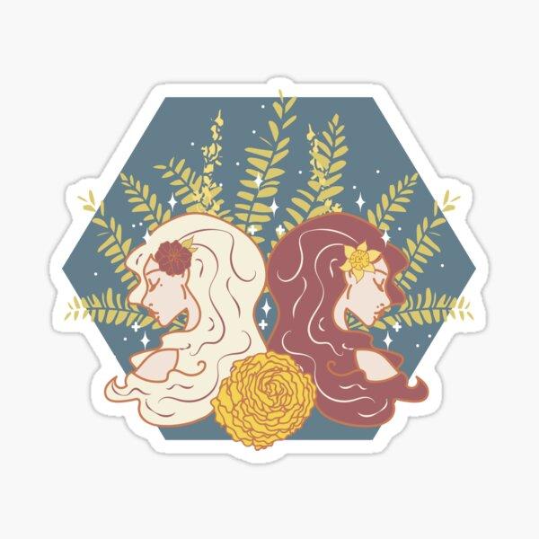 Gemini Twins - NIGHT Sticker