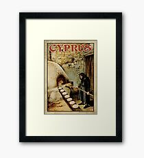 Travel Poster 11 - Baking Bread, Cyprus Framed Print
