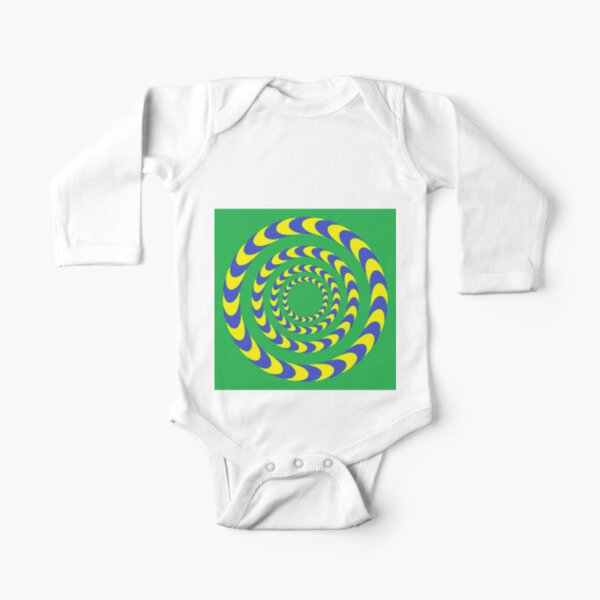 #Illusions gif, #abstract, #design, #pattern, art, illustration, twirl, hypnosis, twist, target, spiral Long Sleeve Baby One-Piece
